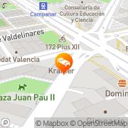 Map Kris Abadía Valencia, Spain