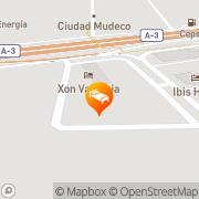 Map Hotel Xon's Valencia Quart de Poblet, Spain