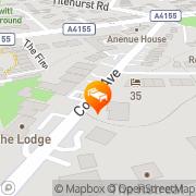 Map Crescent Hotel Reading, United Kingdom