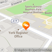 Map Minster View Guest House York, United Kingdom