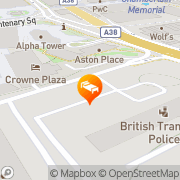 Map nitenite Birmingham, United Kingdom