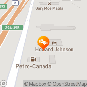 Map Howard Johnson Red Deer County, Canada