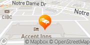Map Accent Inns Kamloops Kamloops, Canada