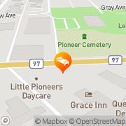 Map Grace Inn Quesnel, Canada
