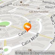 Map Apartamentos Guatiza Playa del Ingles, Spain
