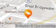 Map Hilton Manchester Deansgate Manchester, United Kingdom