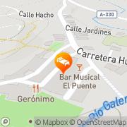 Map Hotel Galera Galera, Spain