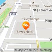 Map The Savoy Hotel Blackpool, United Kingdom