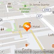 Map The Balmoral Hotel Edinburgh, United Kingdom