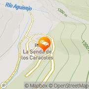 Map La Senda de los Caracoles - Spa Grado del Pico, Spain