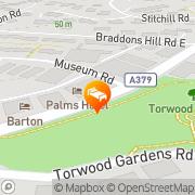 Map The Ravenswood Hotel Torquay, United Kingdom
