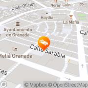 Map Hotel Niza Granada, Spain
