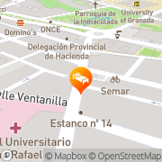 Map Hotel Los Girasoles Granada, Spain