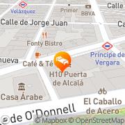 Map NH Alcalá Madrid, Spain