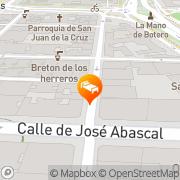 Map NH Zurbano Madrid, Spain
