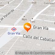 Map Senator Gran Via Hotel Madrid, Spain
