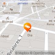 Map Catalonia Moratin Madrid, Spain