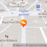 Map Hostal El Pilar Madrid, Spain