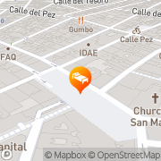 Map Hostal Santo Domingo Madrid, Spain