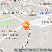 Map Tryp Ambassador Madrid, Spain