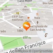 Map Apartamentos Palacio Real Madrid, Spain