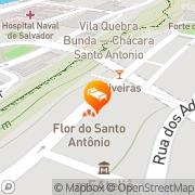 Map Pousada das Flores Salvador, Brazil