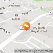 Map Ivy Bush Royal Hotel Carmarthen, United Kingdom