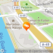 Map Student Residence Jacinto Benavente Málaga, Spain