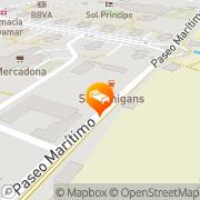 Map Hotel Tarik Torremolinos, Spain