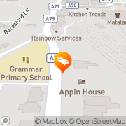 Map Grange View Bed and Breakfast Ayr, United Kingdom