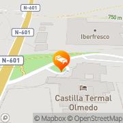Map Hotel Balneario Villa de Olmedo Olmedo, Spain