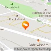 Map Riad Lahboul Meknes, Morocco