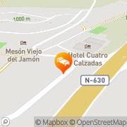 Map Hotel Cuatro Calzadas Mozárbez, Spain