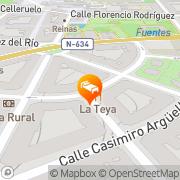 Map Hotel Loriga Pola de Siero, Spain