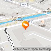 Map Mespil Hotel Dublin, Ireland