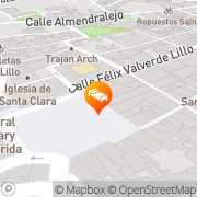 Map Mérida Palace Mérida, Spain