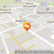 Map Riad Kalaa Rabat, Morocco