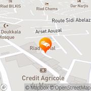 Map Riad Mille Et Une Nuits Marrakech, Morocco