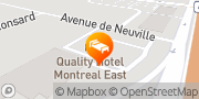 Map Quality Hotel & Suites Montreal East Anjou, Canada