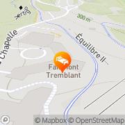 Map Hotel Fairmont Tremblant Mont-Tremblant, Canada