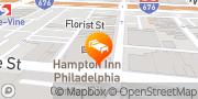Map Hampton Inn Philadelphia Center City-Convention Center Philadelphia, United States