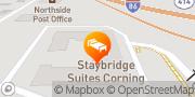 Map Staybridge Suites Corning Corning, United States