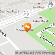 Map Rodeway Inn - Closed Surfside Beach, United States