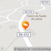 Map Apartamentos Via Nova Lobios, Spain