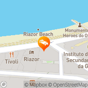 Map Hotel Riazor A Coruña, Spain