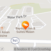 Map Baymont Inn Suites Mason Mason, United States