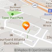 Map Hilton Garden Inn Atlanta - Buckhead Atlanta, United States