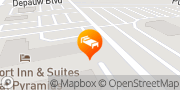 Map Comfort Inn & Suites North at the Pyramids Indianapolis, United States