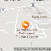 Map Comfort Suites Mobile West Tillmans Corner Mobile, United States
