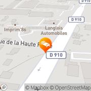 Carte de Fasthotel Poitiers Futuroscope Jaunay-Clan, France